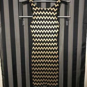 Black & Gold Party Dress